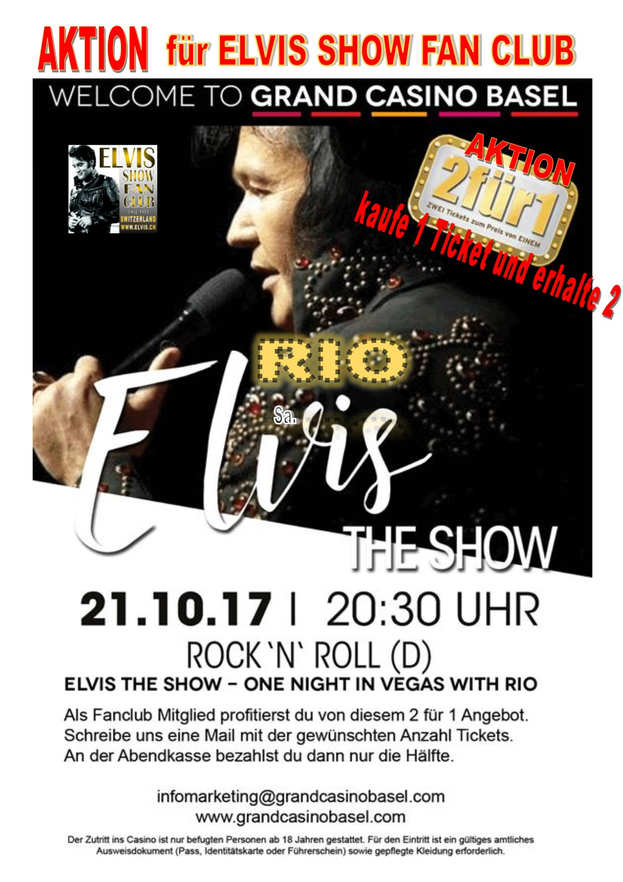 Rio - Elvis The Show 21.10.17 Basel
