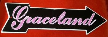 Schild Graceland-Pfeil