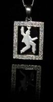 Elvis Silhouette Frame, aus Silber