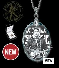 """Elvis-Kristall-Anhänger """"1968 schwarz/weiss"""""""
