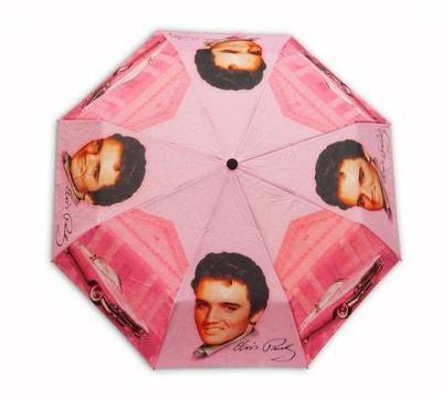 Taschen-Regenschirm pink Elvis