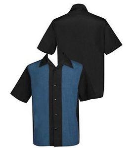 Bowling Hemd schwarz-blau (ohne Elvis)