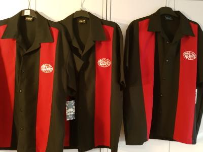 Bowling Hemd mit  Elvis , rot-schwarz