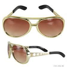 Elvis Brille Kunststoff Gold