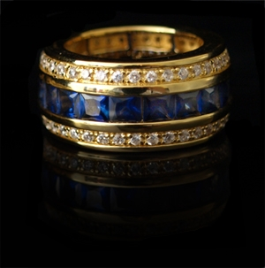 Aloha Ring blau
