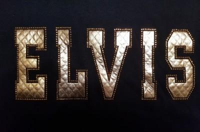 ELVIS T-Shirt Schriftzug GOLD