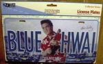 Auto-Schild elvis Blue Hawaii