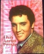 Elvis Blech Schild  Pink gross