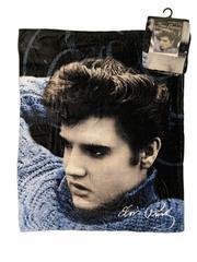 Fleece-Decke blauer Pulli