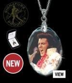 "Elvis-Kristall-Anhänger, ""Aloha from Hawaii 1973"""