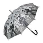 Regenschirm mit Stock,  68 grau
