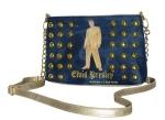 Jeans-Gold Clutch Abendtasche