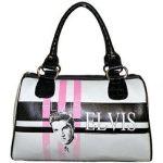 Tasche Satchel weiss, Elvis pink