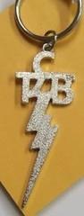 TCB Schlüsselanhänger, metall-farbig