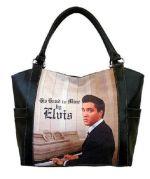 """Elvis Einkaufstasche gross """"am Klavier"""""""