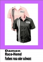 Damen-Hemd, Elvis Black-Race Gr. M