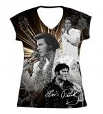 T-Shirt Aloha, dunkel , tailliert Damen