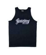 Elvis Tanktop blau Graceland, Gr- M