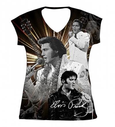 T-Shirt Aloha, tailliert Damen L