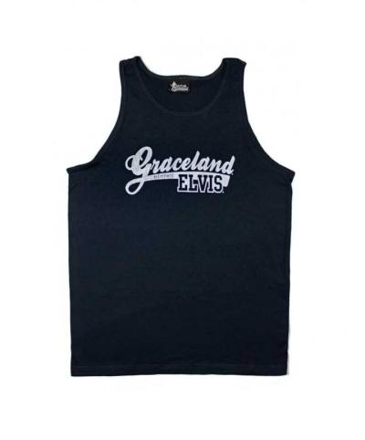 Elvis Tanktop blau Graceland, Gr- S