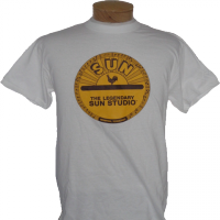 T-Shirt, Sun-Studio-Logo, weiss