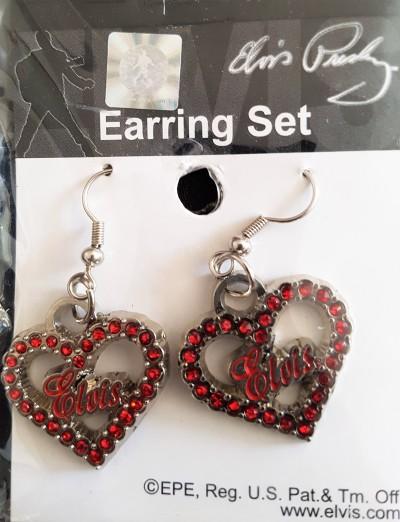 Ohrhänger Herz rot